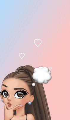 Ideas For Wall Paper Celular Deus Emoji Wallpaper, Tumblr Wallpaper, Girl Wallpaper, Disney Wallpaper, Wallpaper Backgrounds, Screen Wallpaper, Ariana Grande Anime, Ariana Grande Drawings, Ariana Grande Wallpaper