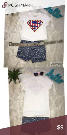 Stars & Stripes Super Girl Top And Denim Shorts Get Ready... The 4th Will Be Here Before You Know It!! Circo Matching Sets