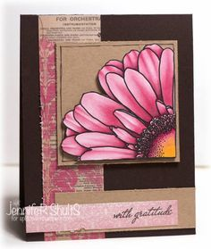 Floral card in shades of pink from Splitcoast.