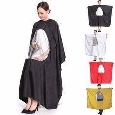 Etc Solid Aprons Fashion Nice Waterproof Cloth Hairdresser Cape Haircut Cutting Black Home Salon