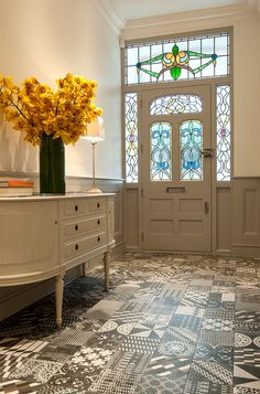 Contemporary Hallway by Surface Tiles