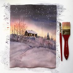 "Polubienia: 1,570, komentarze: 21 – • Кудряшова Анна• (@anna_pole) na Instagramie: ""✨❄️#winterwonderland inspiration @village_ru #watercolorjournal #artworks_artist #art_we_inspire…"""