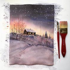 "1,552 Likes, 21 Comments - • Кудряшова Анна• (@anna_pole) on Instagram: ""✨❄️#winterwonderland inspiration @village_ru #watercolorjournal #artworks_artist #art_we_inspire…"""