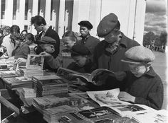 "Book fair in Kirov / Vyatka, 1960s || ""Russia is the most reading nation in the world"" was the popular slogan in the soviet times"