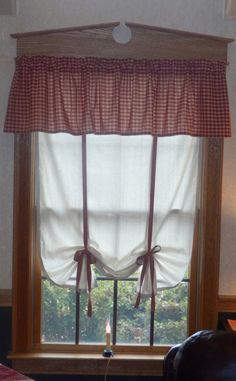 primitive country curtain valance in by country