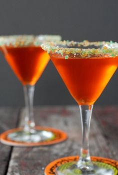 Candy Corn Martini with Pop Rocks Rim | Boulder Locavore