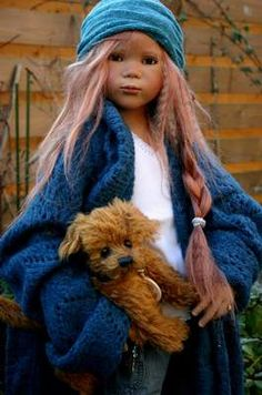 Himstedt Kinder 2006 - collector's world Thabi Annette Himstedt, Vinyl Dolls, Pretty Baby, Beautiful Dolls, Art Dolls, Winter Hats, Childhood, Porcelain, Teddy Bear