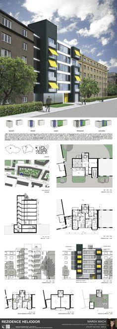 Apartment elevation design studios 66 ideas for 2019 Architecture Portfolio, Architecture Plan, Residential Architecture, Moore House, Modern Entrance, Cool Apartments, Facade House, Exterior Paint, House Plans