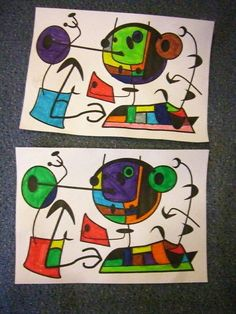 à la manière de Miro mise en couleur feutres Joan Miro, Art Activities For Kids, Art For Kids, Color Songs, Ecole Art, Art Curriculum, School Art Projects, Art Lessons Elementary, Arts Ed