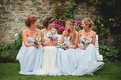 Pale Blue and Pretty Maids and an Elegant Jenny Packham 'Damask' Bride... - Love My Dress UK Wedding Blog