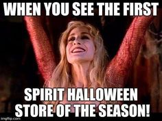 Spirit Halloween on It's such a magical time! Halloween Playlist, Halloween Captions, Halloween Spirit Store, Funny Halloween Memes, Happy Halloween Quotes, Happy Halloween Pictures, Halloween Images, Disney Halloween, Halloween Horror