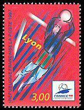 LYON Coupe du Monde de Foot-Ball - FRANCE 98 - Timbre de 1997