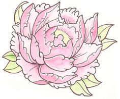 Coloring Pages of peonies