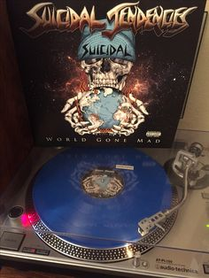 Suicidal Tendencies - World Gone Mad  2016 Limited Edition Blue Vinyl Double LP