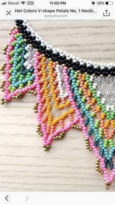 Seed Bead Jewelry, Seed Beads, Beaded Jewelry, Beadwork Designs, Hama Beads, Cheryl, Color Inspiration, Loom, Collars