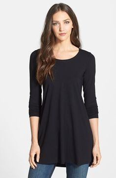 Eileen Fisher Scoop Neck Jersey Tunic (Regular & Petite) available at #Nordstrom