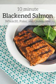Blackened Salmon - Slender Kitchen