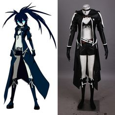 Black Cool leather cosplay clothing for girls Anime Vocaloid Cosplay Black  Rock Shooter Cosplay Hatsune Miku