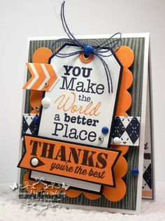 I made this card for the Reverse Confetti November Colour Challenge...Grey, Orange and Navy. I used MFT Vertical Greetings and Sending Thanks Stamp sets, Textile Backgrouns, Jumbo Mod Border Stamps and the Woodgrain Background Stamp. I also used MFT Blueprints 1, Layered Treat Tag, Pierced Traditional Tag STAX, Traditional Tag STAX and Accent It - Holiday Traditions Elements.