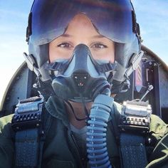 Beautiful Lady Pilot in Helmet and Mask Female Pilot, Female Soldier, Army Soldier, Jet Fighter Pilot, Fighter Jets, Airplane Pilot, Female Fighter, Military Pictures, Military Women