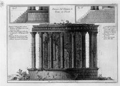 Side of the Temple of Vesta in Tivoli - Giovanni Battista Piranesi