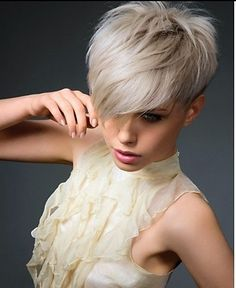 Very Short Haircuts with Bangs for Women@bekahca ..what are YOU doing modeling hair??