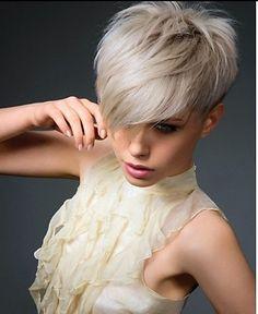 Risultati immagini per short hair with long bangs