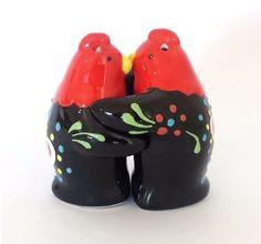 Barcelos Rooster Friends SALT & PEPPER SHAKER Glazed Ceramic Handpainted Pottery | eBay