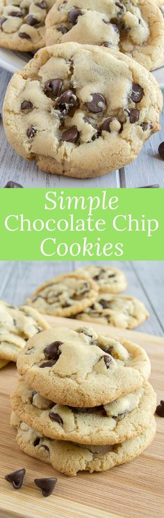 These chocolate chip cookies are perfectly crunchy on the outside and chewy on the inside. No mixer needed for this easy recipe! via @introvertbaker