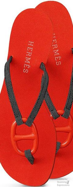 Hermes Sandals S/S 2016. Don't love flip-flops but might weaken for these!