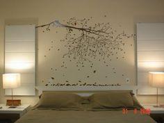 Idéia de decoração na parede com adesivo! (Blog de Decorar: Quarto Decorado com Contact, Adesivo e afins)