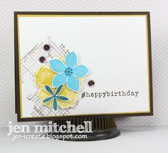 I Create: colourQ 253 and Seize the Sketch 26 - Flower Patch Birthday Cards, Happy Birthday, Flower Patch, Stampin Up Cards, I Card, Make It Simple, Gift Tags, Projects To Try, Card Making