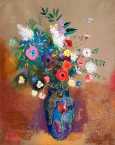Bouquet of Flowers (1900—1905) by Odilon Redon. Original from The MET museum. Digitally enhanced by rawpixel. | free image by rawpixel.com / The Metropolitan Museum of Art (Source) Odilon Redon, Beautiful Bouquet Of Flowers, Art Flowers, National Gallery Of Art, Art Gallery, Art Institute Of Chicago, Floral Wall, Free Illustrations, Flower Vases