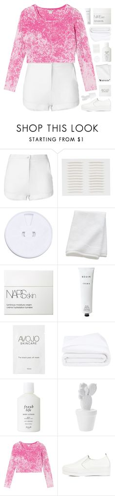 """""""-- your beauty could start a war"""" by feels-like-snow-in-september ❤ liked on Polyvore featuring Eleventy, CB2, NARS Cosmetics, Rodin, Frette, Fresh, Monki, WithChic, melsunicorns and gottatagrandomn3ss"""