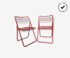 Chaise Ted net Niels Gammelgaard - métal - rouge - design - 151835 Outdoor Chairs, Outdoor Furniture, Outdoor Decor, Ted, Berry, Metal, Design, Home Decor, Chair
