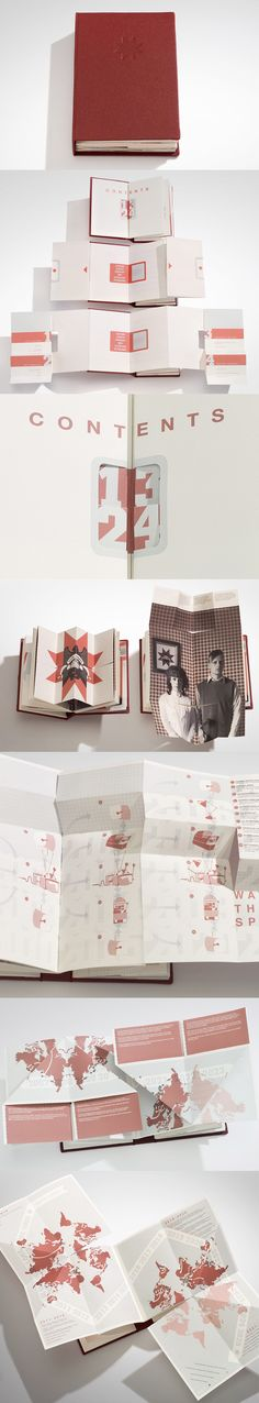 EE™ Staff Handbook 2025  An award winning student work inspired by propaganda produced for WW1 and modern consumer campaigns. A book combining unique paper-engineering, typography and illustraion.