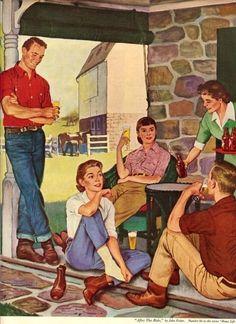 John Falter breweriana advertisement 1953