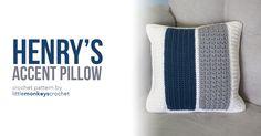 Henry's Accent Pillow | Little Monkeys Crochet