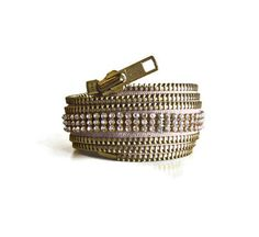 Zipper cuff with rhinestones. Someone who loves me a really lot.. should be my Santa.