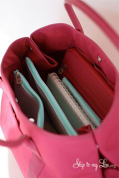 What's In Your Bag? {Martha Stewart Tote Giveaway} Tote includes Ipad case and zip-able envelopes.  Super awesome!