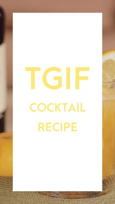 My favorite TGIF cocktail-recipe for you. Cocktail Recipes, Cocktails, Get In The Mood, Whiskey Sour, Gin And Tonic, Tgif, Good Mood, Love You, How To Get