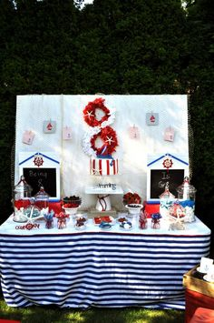 nautical party table       #nautical party