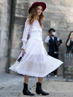 chiara-ferragni-street-style-white-midi-dress-cowboy-boots