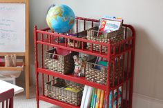 Get inspired with Dixie Belle Paint in the color Barn Red! Red Painted Furniture, Paint Furniture, Repurposed Furniture, Furniture Makeover, Changing Table Storage, Changing Tables, Small Bookcase, Diy Craft Projects, House Projects