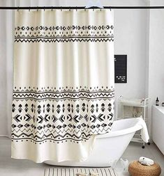 Uphome Fabric Shower Curtain Black and Beige Geometric Tribal Cloth Shower Curtain Set with Hooks Chic Boho Bathroom Decor,Heavy Duty Waterproof, 72x72 Amazon.com: Uphome Fabric Shower Curtain Black and Beige Geometric Tribal Cloth Shower Curtain Set with Hooks Chic Boho Bathroom Decor,Heavy Duty Waterproof, 72x72: Kitchen & Dining<br>
