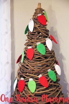 Christmas String Lights Bulbs In The Hoop by OneRockinMamma