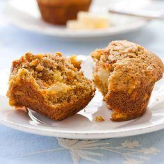 Morning Glory Muffins! I replaced white flour with: 1cup of oat bran, 1 cup of oat flour ( quick oats in food processor) and 1/2 cup quick oats