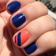 Sparkle and Shine: War Eagle! Easy Gameday Nails.