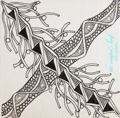 The Creator's Leaf - Alice Hendon, zentangle art for Square One: Purely Zentangle® on facebook, #zentangle #thecreatorsleaf #alicehendon