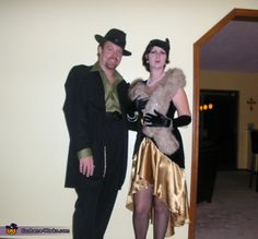 1920's Flapper and Gangster Costumes - 2012 Halloween Costume Contest